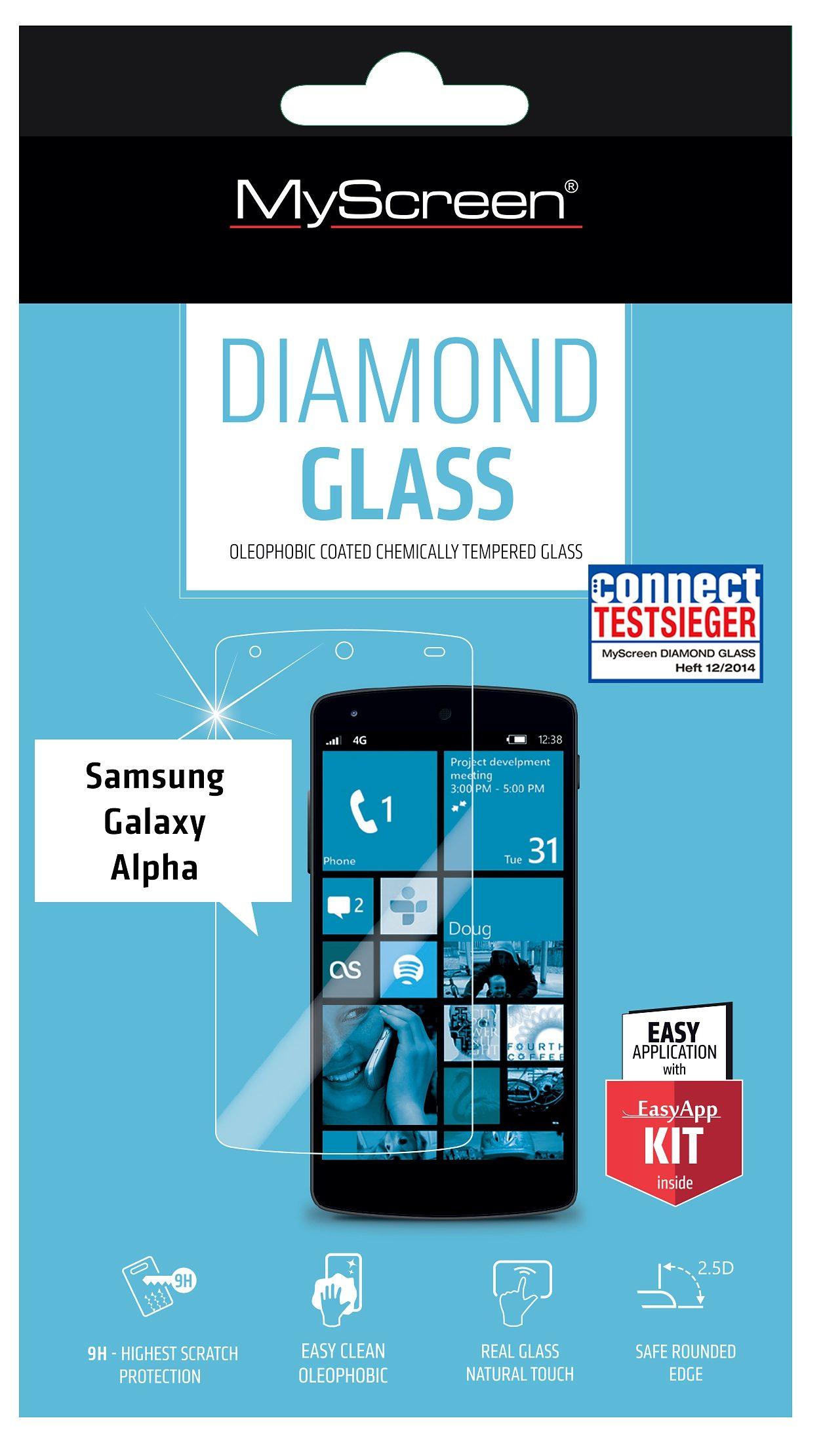 MYSCREEN Schutzglas »Diamond Glass für Galaxy Alpha«