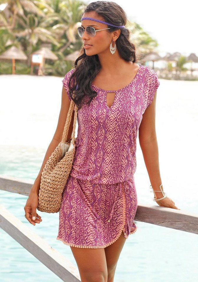 LASCANA Strandkleid mit Ethnodruck in bedruckt