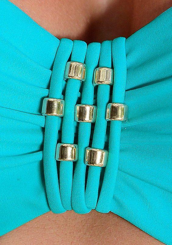 LASCANA Bügel-Bandeau-Bikini mit modischen Zierperlen - broschei