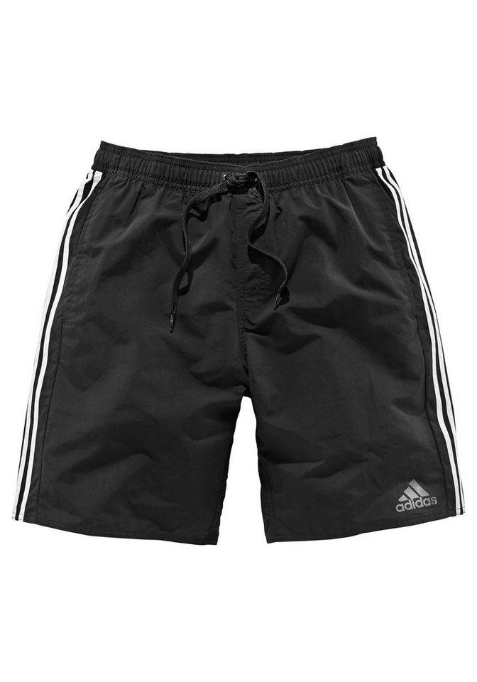 adidas Performance Badeshorts in schwarz