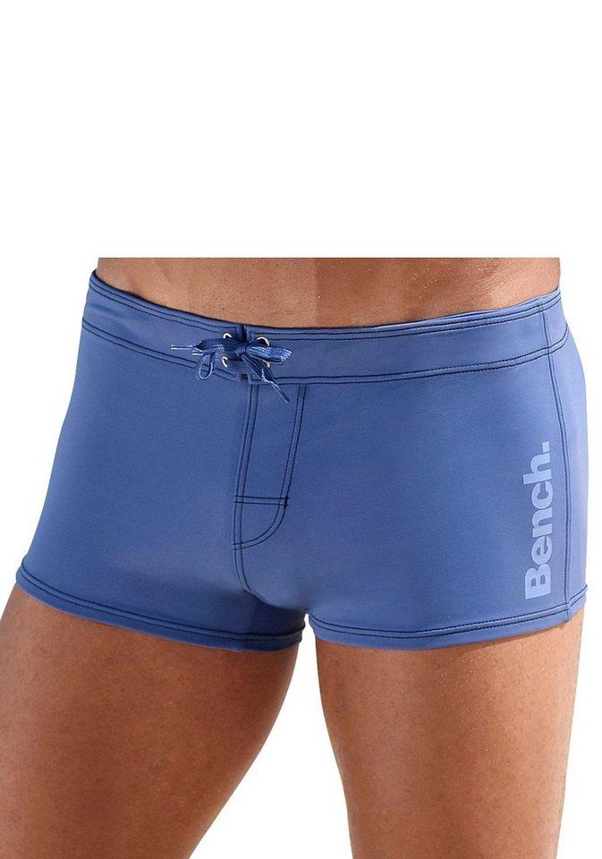 Bench. Boxer-Badehose, mit seitlichem Logoprint   Bekleidung > Bademode > Boxerbadehosen   Blau   Bench.