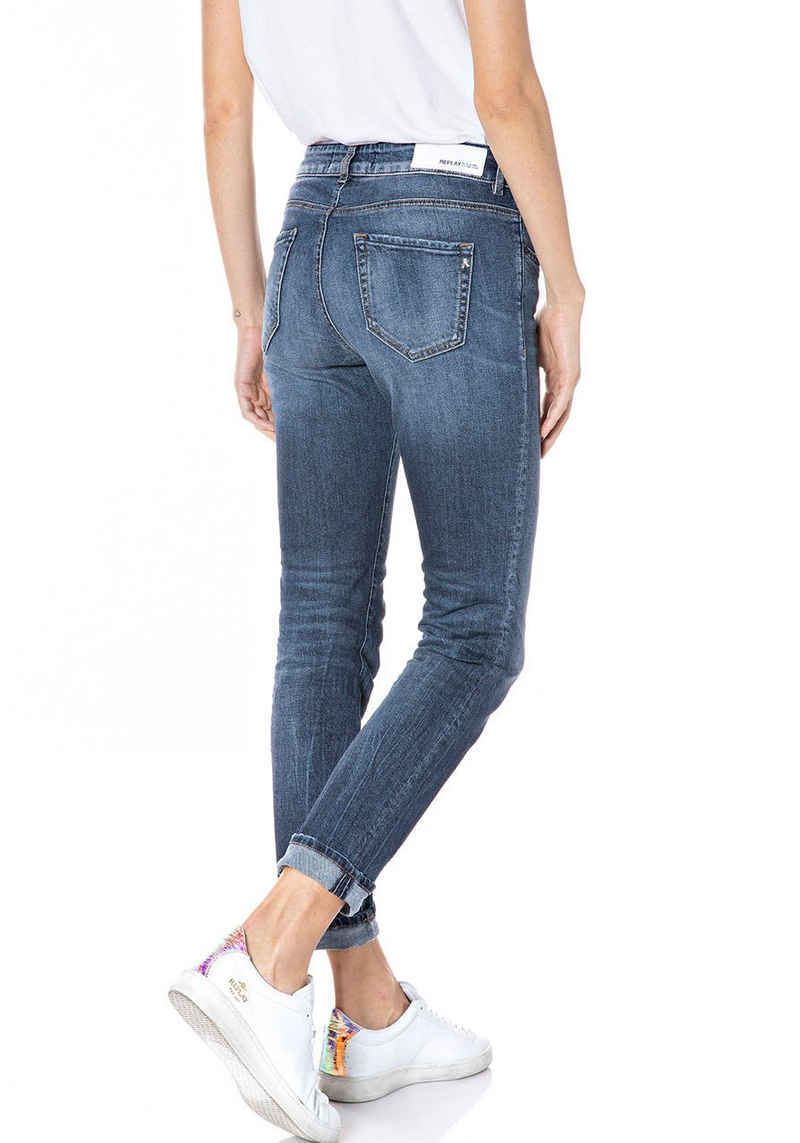 Replay Straight-Jeans »Faaby 573 Bio« Organic Cotton - Super Stretch Denim