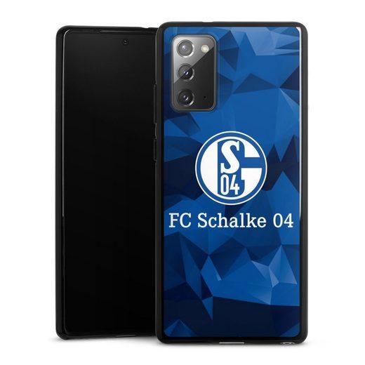 DeinDesign Handyhülle »Schalke 04 Camo« Samsung Galaxy Note 20, Hülle FC Schalke 04 Muster Offizielles Lizenzprodukt
