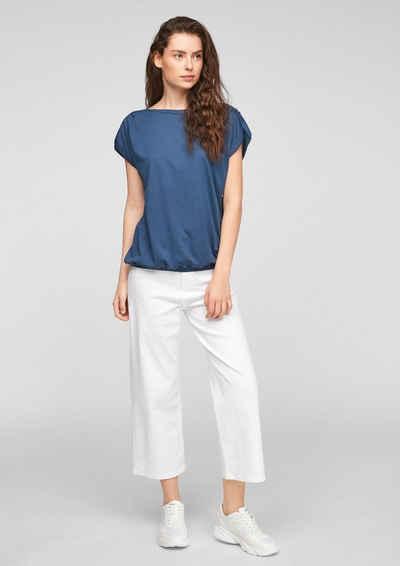 s.Oliver Kurzarmshirt »Jerseyshirt in O-Shape« (1-tlg) Raffung