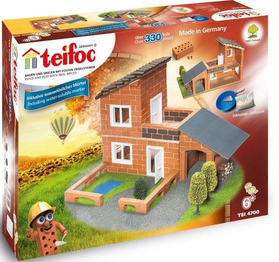 teifoc Steinbaukasten »Villa mit Garage«, (330 St), Made in Germany