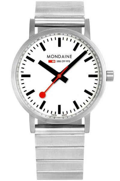 MONDAINE Quarzuhr »Uhr mit Metallband Unisex Classic«