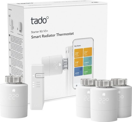 Tado »Starter Kit V3+ mit Bridge und 4 Heizkörperthermostaten« Smart-Home Starter-Set
