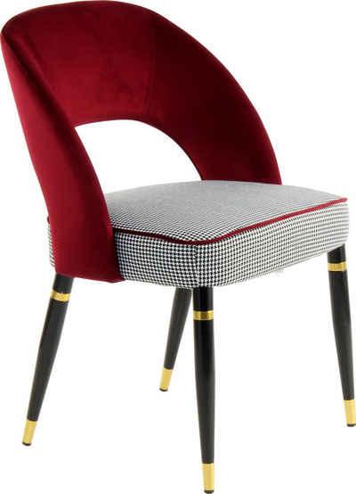 Kayoom Polsterstuhl »Stuhl Courtney 525« (2 Stück), attraktive Aussparung in der Rückenlehne