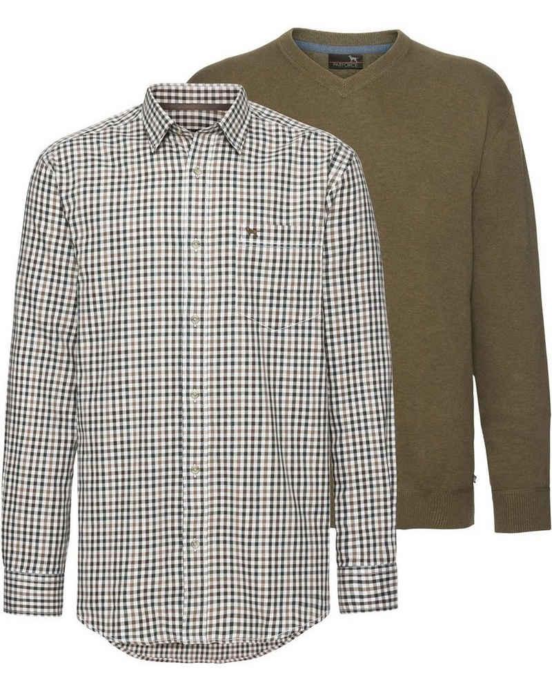 Parforce Hemd »Set: Karohemd und Pullover«