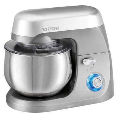 CLATRONIC Küchenmaschine, 1000 W, Knetmaschine titan Rührmaschine Teigkneter