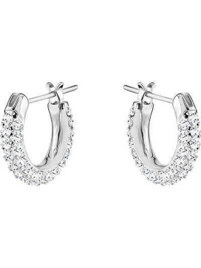 Swarovski Paar Creolen »Swarovski Damen-Creolen Metall Swarovski-Kristall«