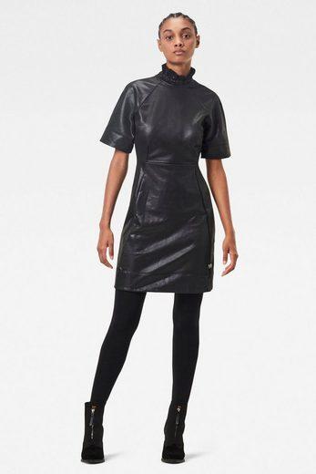 G-Star RAW Minikleid »Glossy High Collar Sweat Kleid« mit einer glänzenden Optik