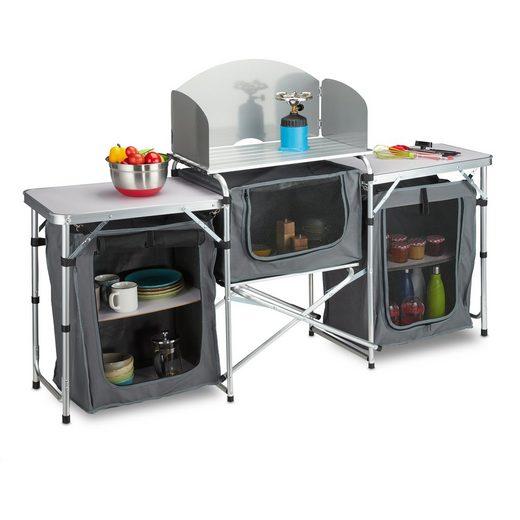 relaxdays Campingschüssel »Campingküche klappbar«, Aluminium