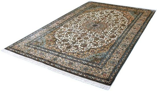 Seidenteppich »Kashan 999x9«, Kayoom, rechteckig, Höhe 10 mm, Einzelstück mit Zertifikat