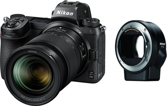 Nikon »Z 6II KIT 24-70 mm 1:4 S + FTZ Objektivadapter« Systemkamera (NIKKOR Z 24–70 mm 1:4 S, 24,5 MP, WLAN (Wi-Fi), Bluetooth)