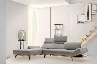 hülsta sofa Ecksofa »hs.420«, in 2 Qualitäten, Holzrahmen in Eiche Natur oder Nußbaum
