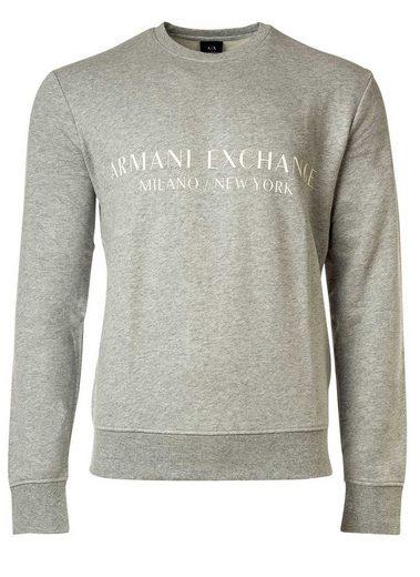 ARMANI EXCHANGE T-Shirt »Herren Sweatshirt - Pullover, Logo«