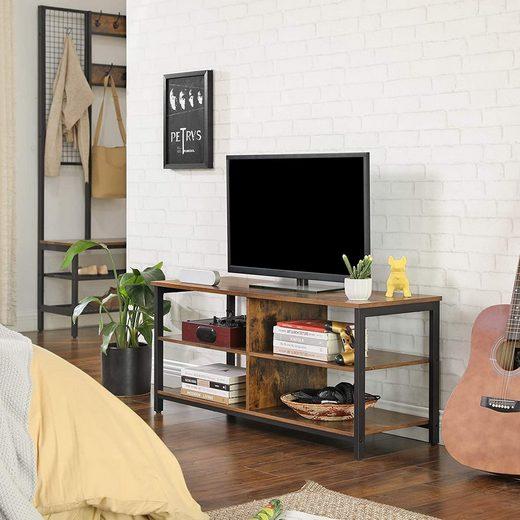 VASAGLE TV-Schrank »LTV37BX« Fernsehtisch, TV-Regal, vintage