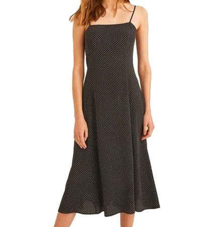 OXXO Spaghettikleid »OXXO Freizeit-Kleid elegantes Damen Spaghettiträger-Kleid mit kleinen Tupfen Party-Kleid Schwarz«