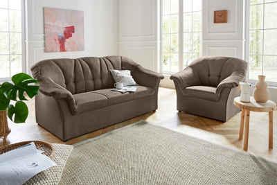 DOMO collection Polstergarnitur »Pegnitz«, (Set), Sessel und 3-Sitzer