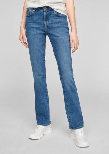 s.Oliver 5-Pocket-Jeans »Slim Fit: Bootcut leg-Jeans« Leder-Patch