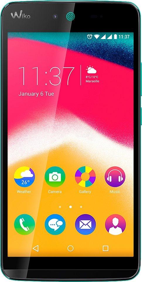Wiko Rainbow JAM Smartphone, 12,7 cm (5 Zoll) Display, Android 5.1 Lollipop, 8GB interner Speicher in türkis