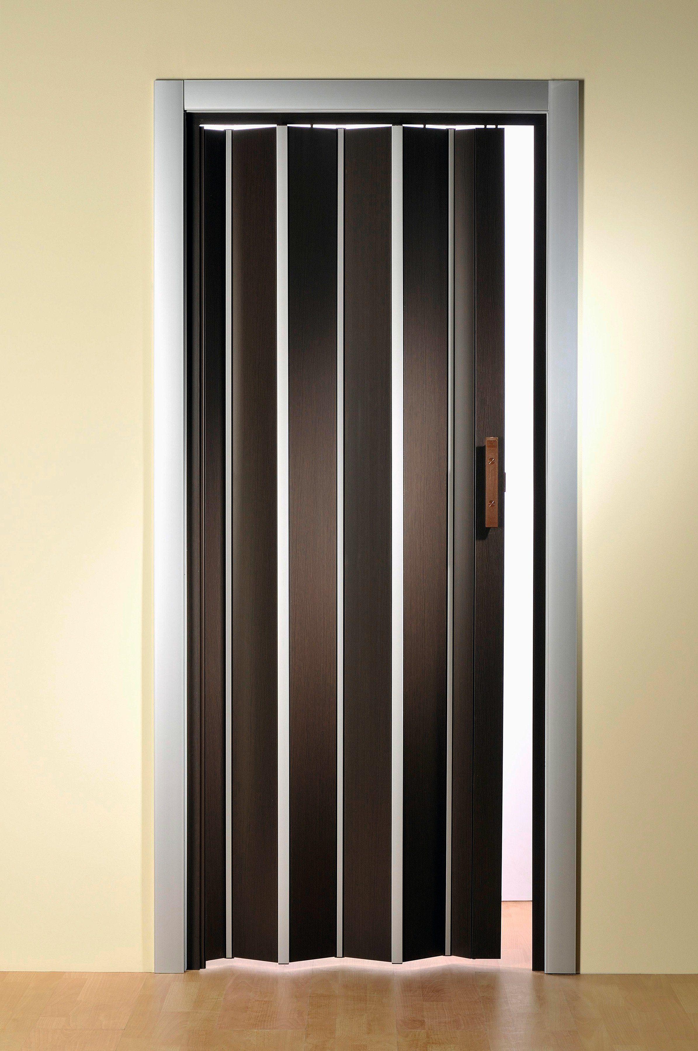 Kunststoff-Falttür »Luciana«, BxH: 88,5x202 cm, Aluminium-braun ohne Fenster
