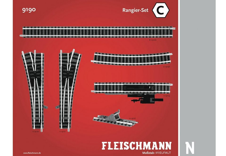Fleischmann® Set: Schienen-Ergänzung, Spur N, »Rangier Set«