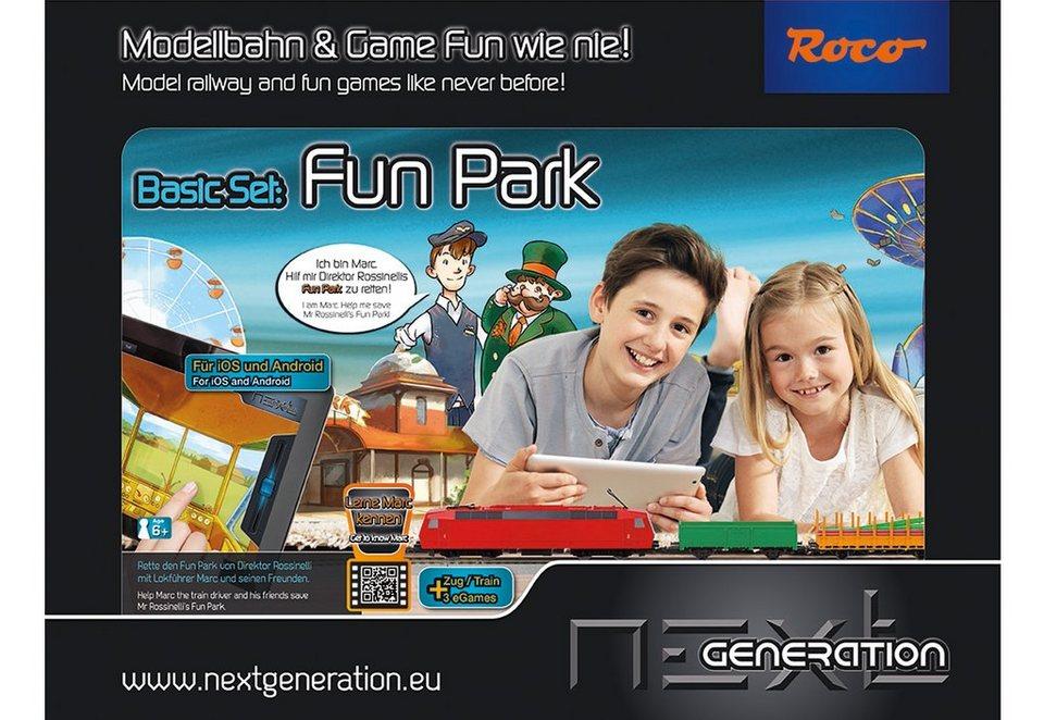 Roco Modelleisenbahn Starter-Set, Spur H0, »Next Generation - Fun Park - Basisset - Gleichstrom«