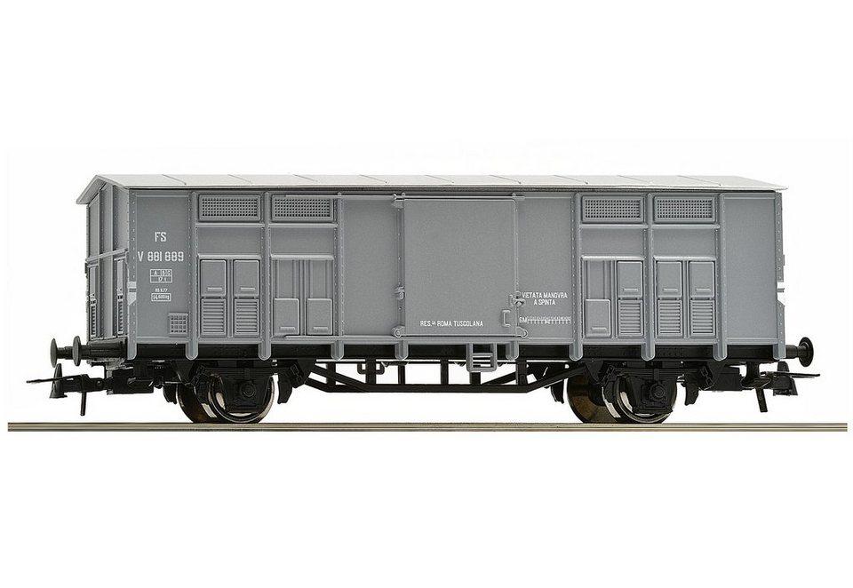 Roco Güterwagen, Spur H0, »Gedeckter Güterwagen der FS - Gleichstrom« in grau