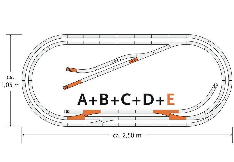Roco Schienenset, Spur H0 , »Gleisergänzungsset E - Gleichstrom« in rot
