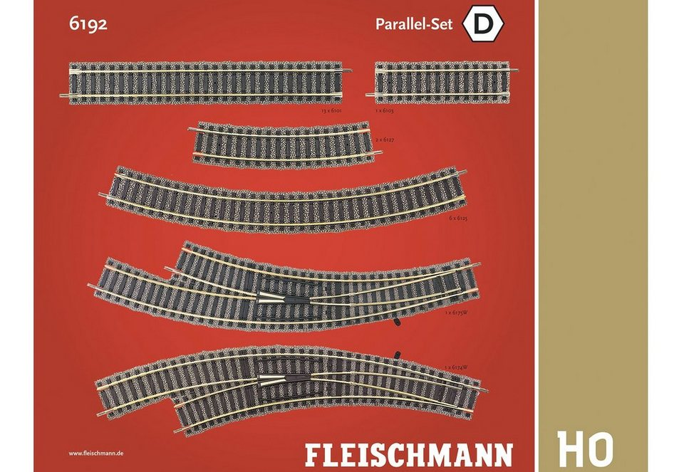 Fleischmann® Set: Schienen-Ergänzung, Spur H0, »Parallel Set«