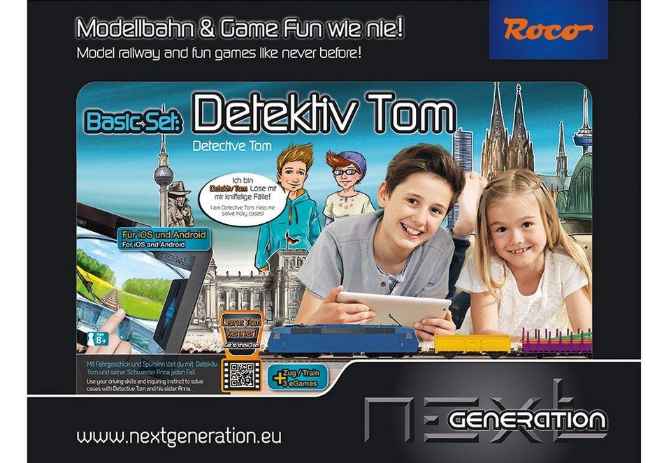 Roco Modelleisenbahn-Set, Spur H0, »Next Generation - Detektiv Tom - Basisset - Gleichstrom«