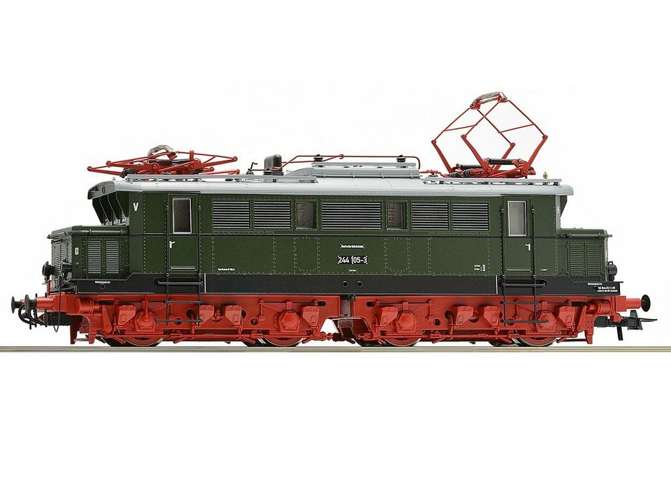 Roco Elektrolokomotive, Spur H0, »E-Lok BR 244 DR - Gleichstrom« in grün