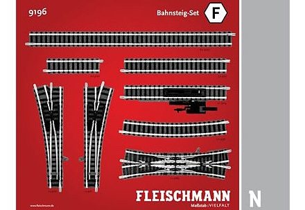 Fleischmann® Set: Schienen-Ergänzung, Spur N, »Bahnsteig-Set«