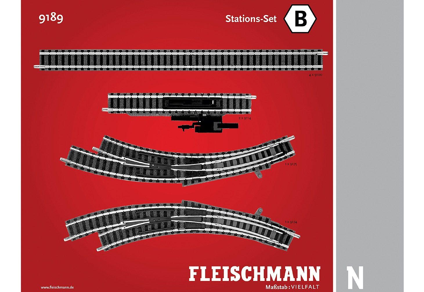 Fleischmann® Set: Schienen-Ergänzung, Spur N, »Stations-Set«