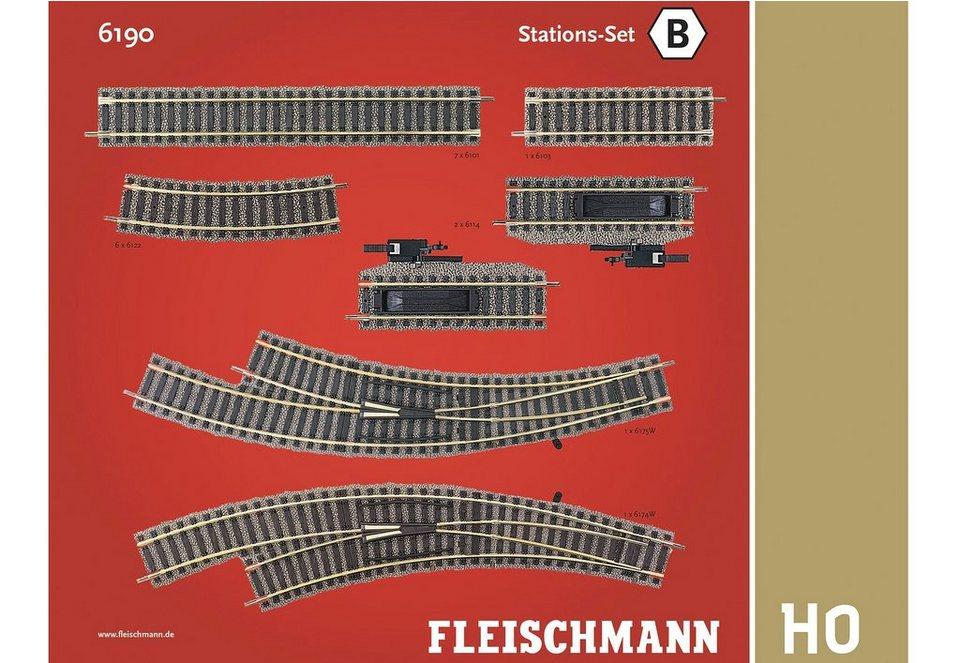 Fleischmann® Set: Schienen-Ergänzung, Spur H0, »Stations Set« (16tlg.)