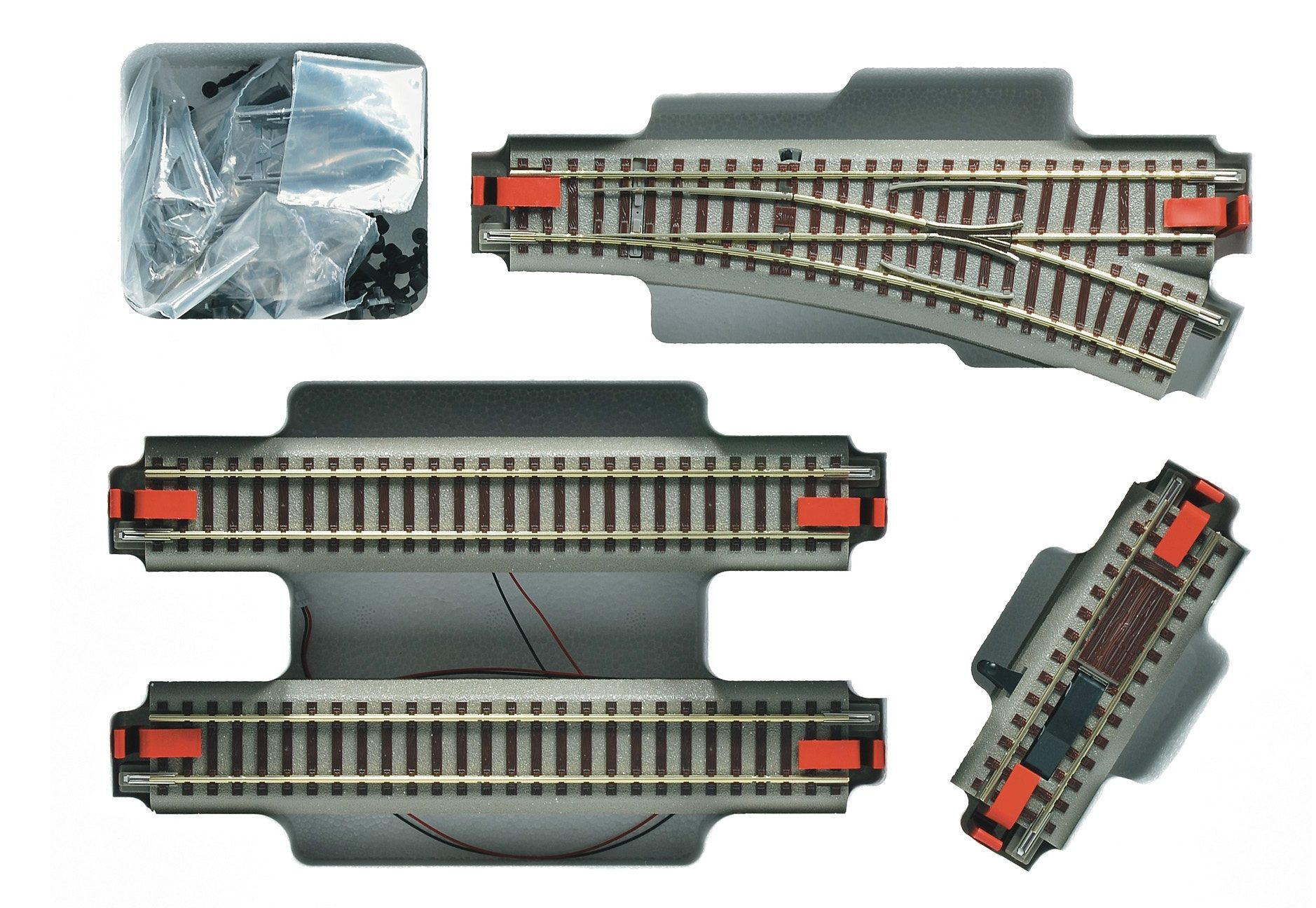 Roco Schienen-Ergänzungsset, Spur H0, »Gleisergänzungsset zu Digitaler Startpackung - Gleichstrom«