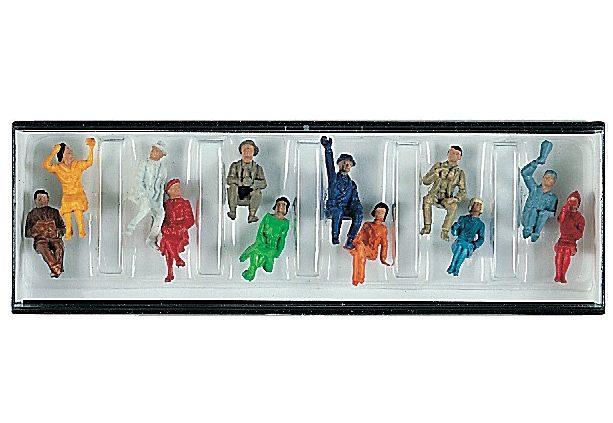 Fleischmann® Modelleisenbahn Figuren, »Figurensatz mit 12 sitzenden Reisenden«