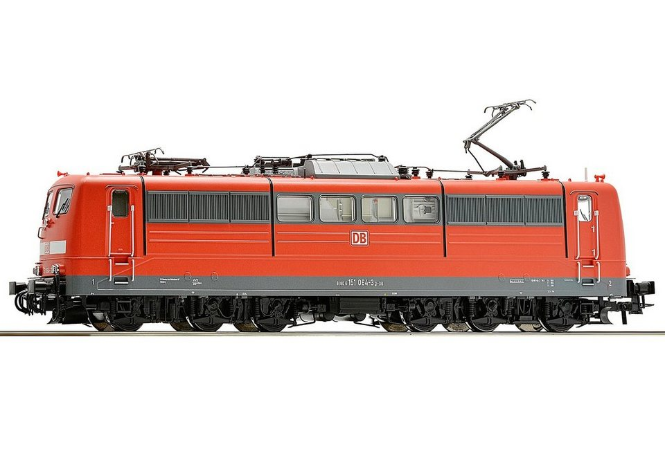 Roco Elektrolokomotive, Spur H0, »E-Lok BR 151, rot, DB - Gleichstrom« in rot