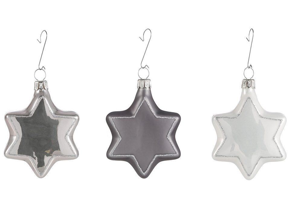 Thüringer Glasdesign TGS-Christbaumschmuck »Sterne« (3tlg.)