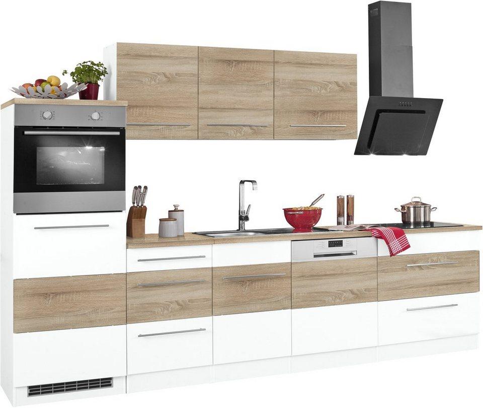 HELD MÖBEL Küchenzeile »Trient«, Mit E Geräten, Breite 300 Cm Mit
