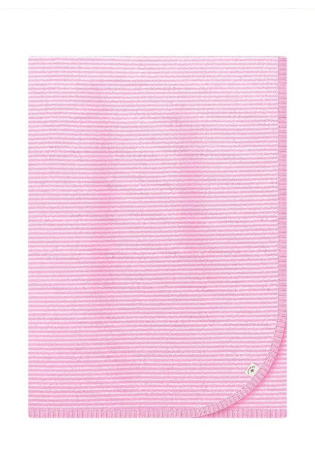 BELLYBUTTON Strickdecke in white/pale rose stri
