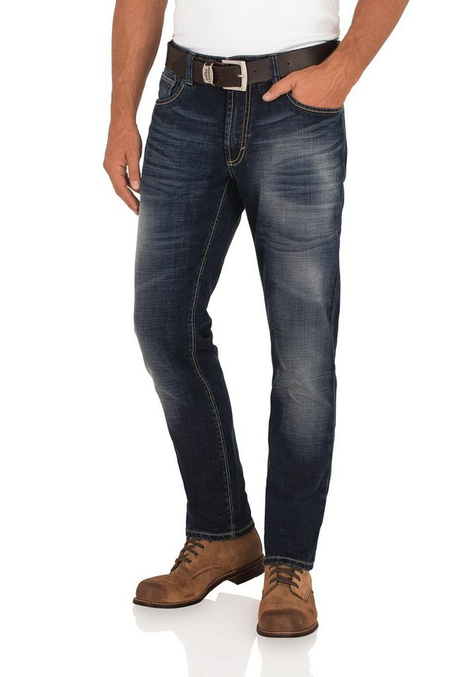 PADDOCK'S Stretch Jeans »SCOTT« in dark stone