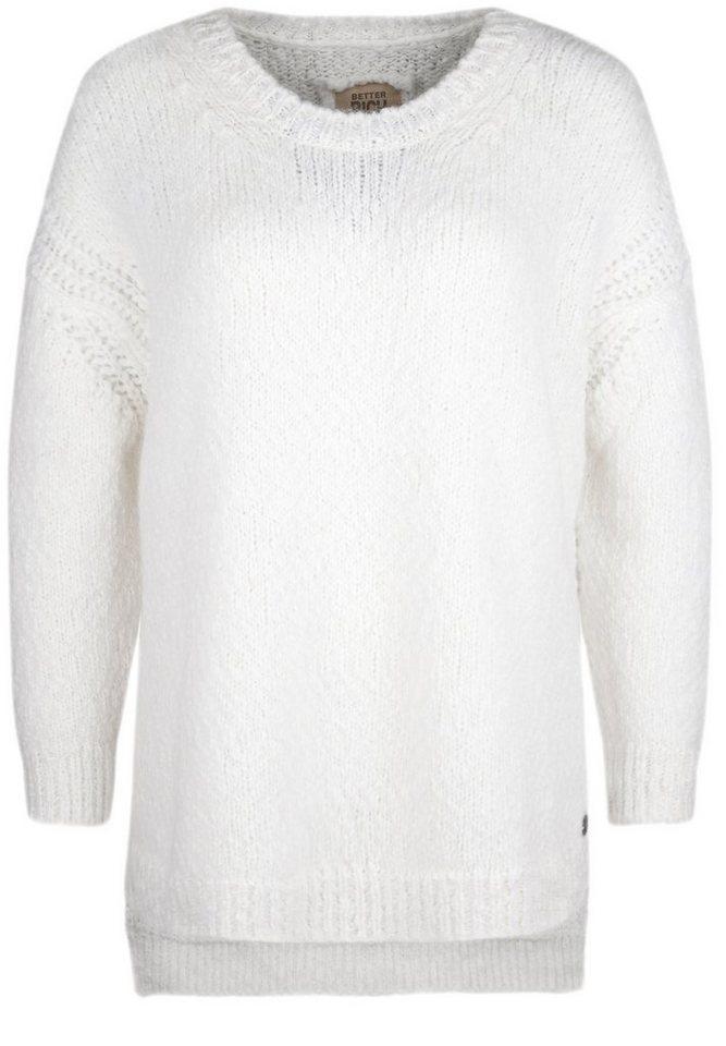 Better Rich Strickpullover »CREW BOXY« in white