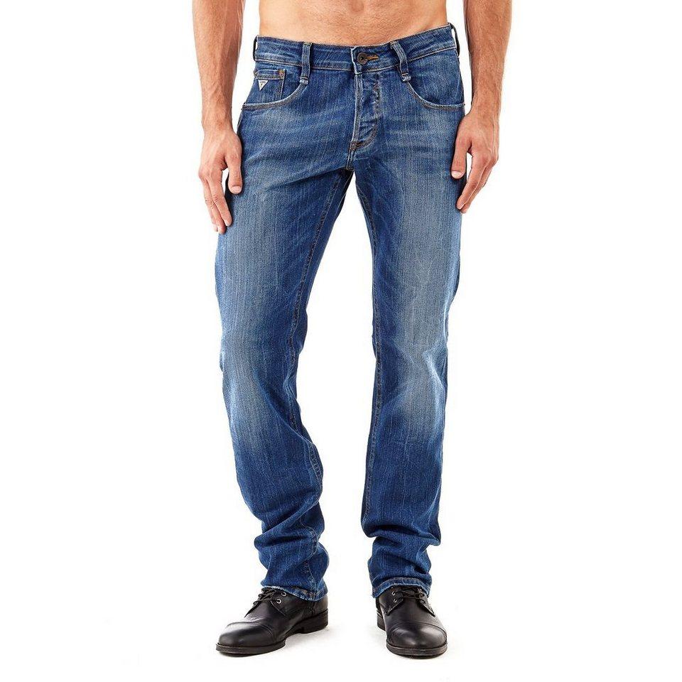 Guess Jeans slim niedriger Bund in Blau