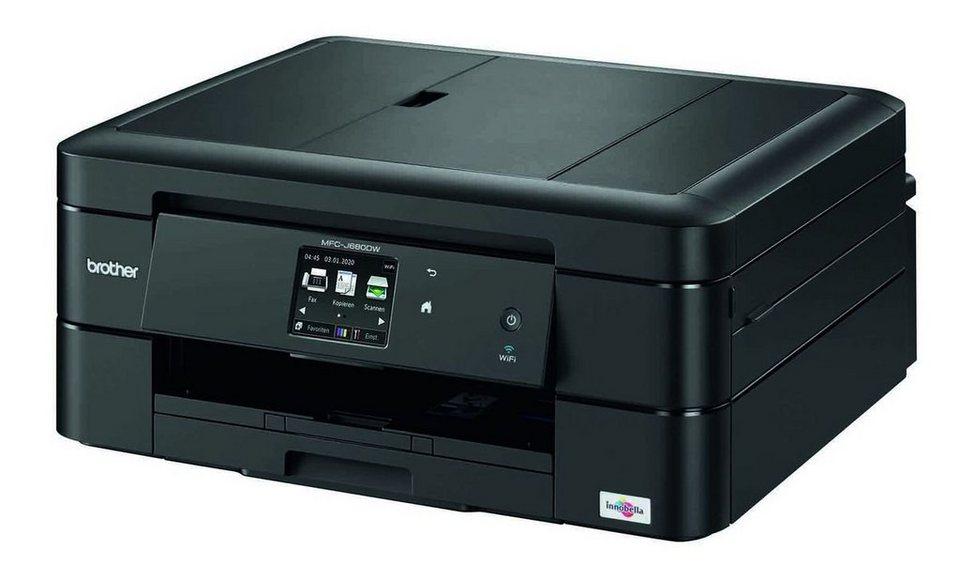 Brother Tintenstrahl-Multifunktionsdrucker »MFC-J680DW 4in1« in Schwarz