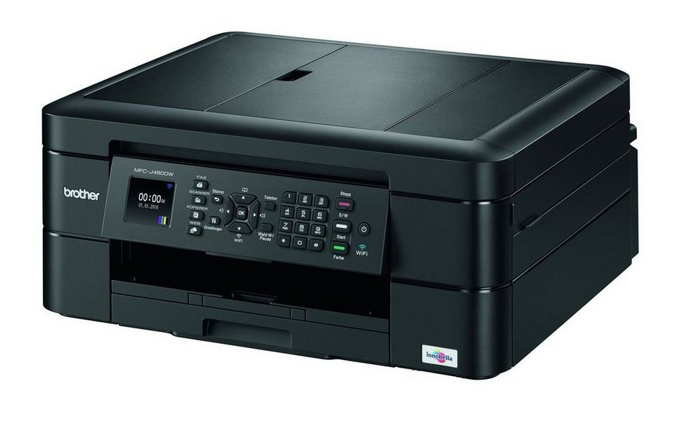 Brother Tintenstrahl-Multifunktionsdrucker »MFC-J480DW 4in1« in Schwarz