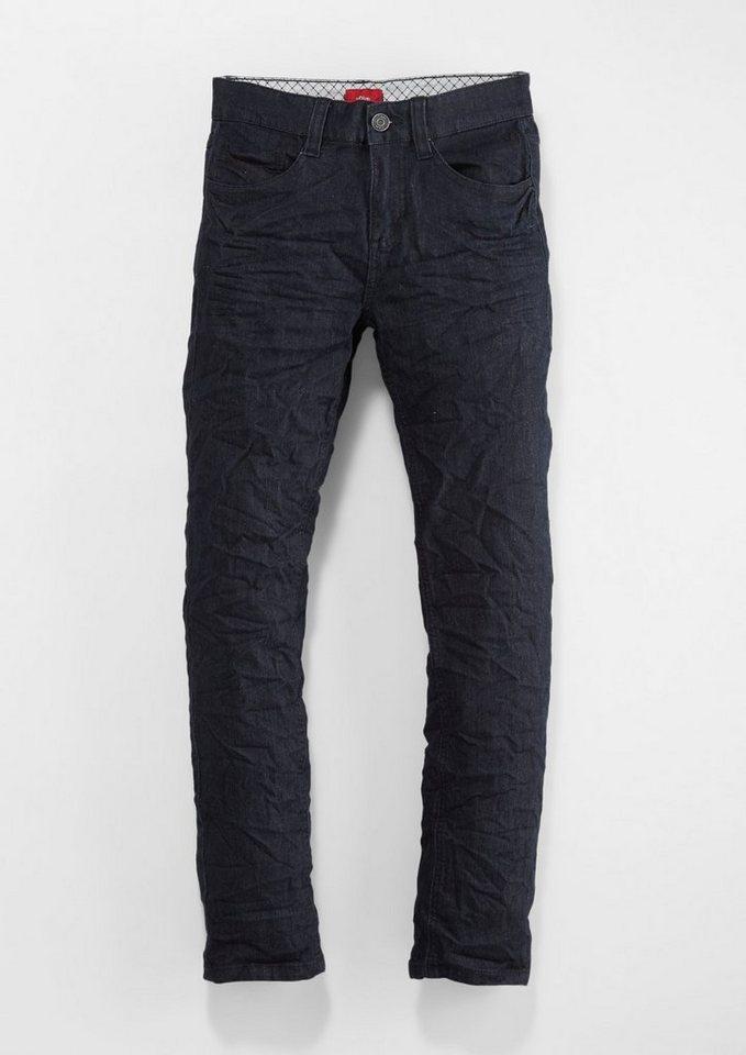 s.Oliver Junior Seattle: Leichte, weiche Jeans für Jungen in dark blue denim stre