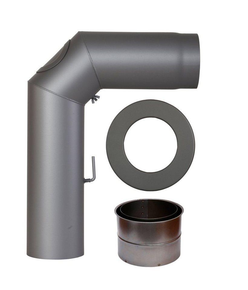 Rauchrohr »Set geschweißt in Grau«, Ø 130 mm, Ofenrohr für Kaminöfen in grau